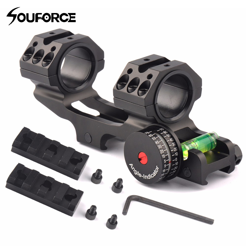 3 Shape Tactical 25.4/30mm Scope Ring Base Mount with Angle Indicator and Spirit Buble Level for Hunting Accessories ...