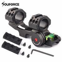 Support de Base d'anneau de portée tactique 25.4/30mm 3 formes avec indicateur d'angle et niveau à bulle pour accessoires de chasse