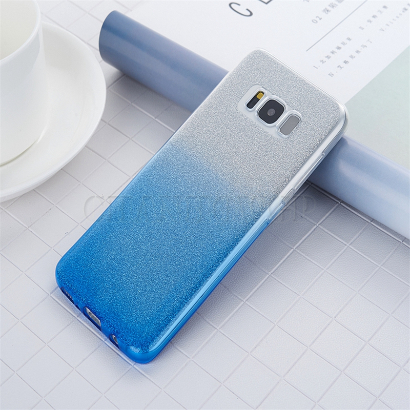 Glitter Shiny Silicon Case For Samsung Galaxy S10 S9 S8 S6 S7 Edge A6 A8 A7 A9 J4 J6 Plus J8 2018 J7 Neo J5 J3 A5 2017 TPU Cover