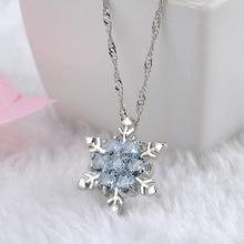 Crystal Snowflake Shaped Women's Pendants