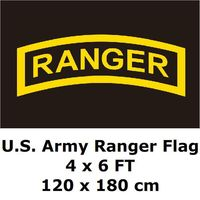 U S Army Ranger Flag 4 X 6 FT Polyester Large American United States USA Army