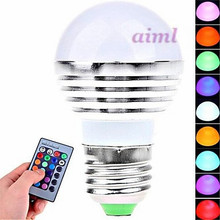 Fashion  E26/E27 3 W 1 High Power LED 180 LM RGB Remote-Controlled Globe Bulbs AC 85-265 V