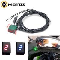 ZS MOTOS Newest Universal Waterproof Motorcycle ATV Vehicles Digital Gear Indicator LED Display Monitor Shift Lever Sensor Motor