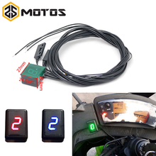 ZS MOTOS Newest Universal Waterproof Motorcycle ATV Vehicles Digital Gear Indicator LED Display Monitor Shift Lever Sensor Motor