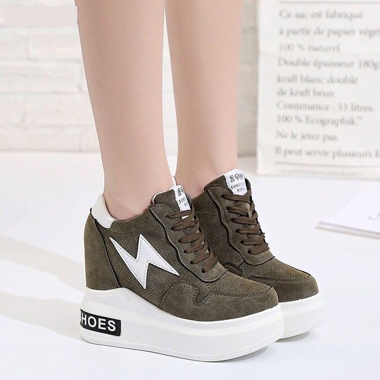 Women Shoes 2018 Autumn Woman Platforms Shoes Women Retro Shoes Woman  Lace-Up 12 cm 917366aa4af5