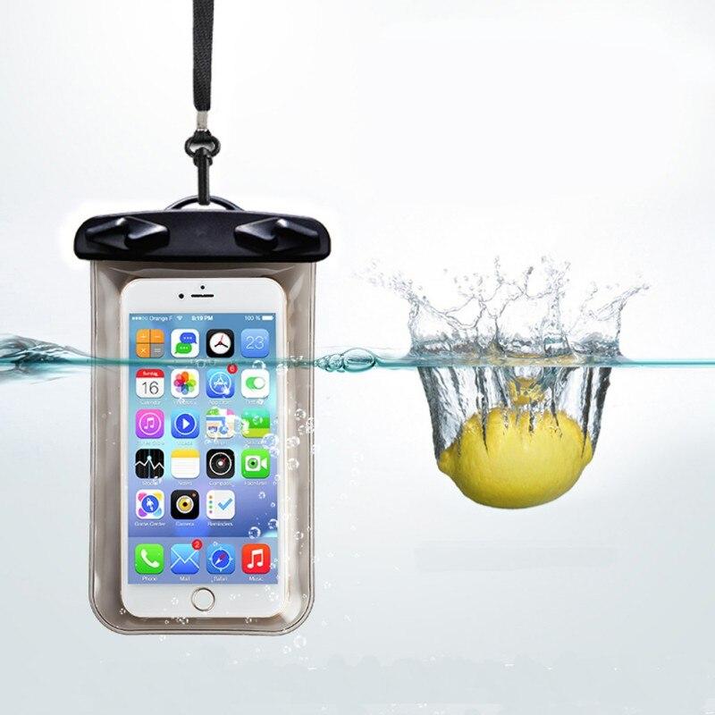 Valve Type Waterproof Bag Mobile Phone Bag / Rafting Water Sports Swimming Essential