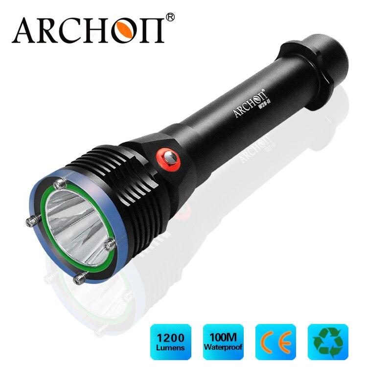 Дайвинг фонарик ARCHON d22 ii XM L2 U2 LED Макс 1200lm погружения Light 100 м Подводное плаванье факел