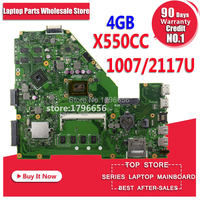 X550CC Motherboard for ASUS X550CC X550CL Notebook Motherboard Y581C 1007u / 2117u 4GB RAM Original Motherboard REV2.0 PM Tests