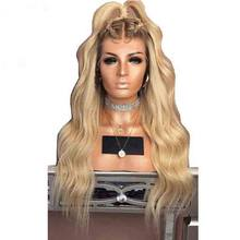 Glueless Colored 180 Density Ombre Lace Front Human Hair Wig 613 Blonde Pre Plucked Dark Roots Wavy Brazilian Remy Lace Wigs(China)