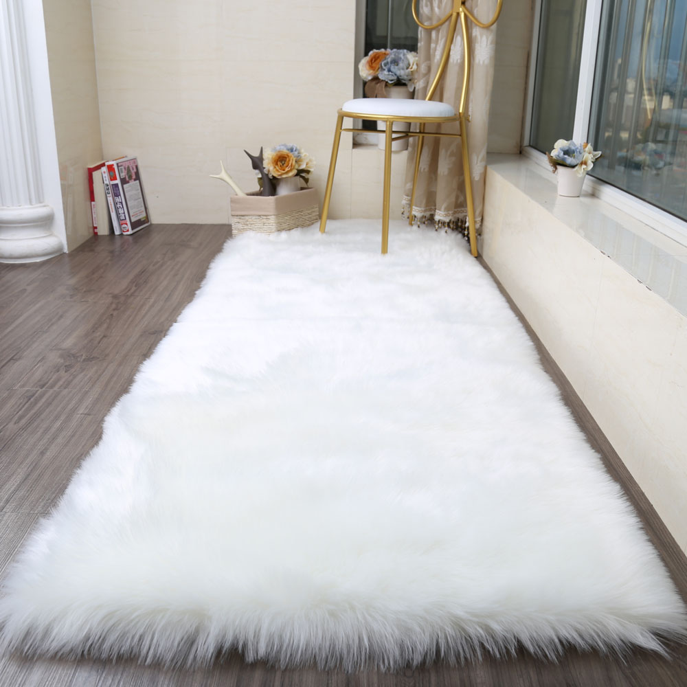 Faux Sheepskin soft Rug Mat Carpet Pad Anti-Slip Chair Sofa Cover For Bedroom Home Decor Rugs for Bedroom Faux Fur CarpetsFaux Sheepskin soft Rug Mat Carpet Pad Anti-Slip Chair Sofa Cover For Bedroom Home Decor Rugs for Bedroom Faux Fur Carpets