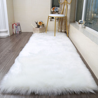 Faux Sheepskin soft Rug Mat Carpet Pad Anti Slip Chair Sofa Cover For Bedroom Home Decor Rugs for Bedroom Faux Fur Carpets