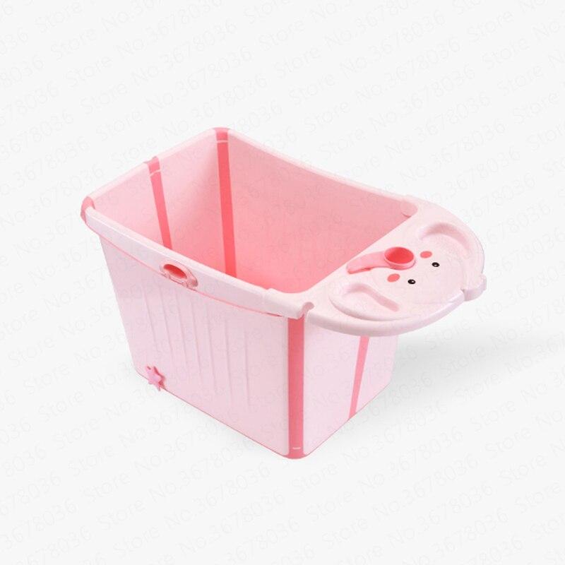 Bébé baignoire pliante enfants bain baril grand ménage peut s'asseoir bébé baignoire bain baril bain seau enfant