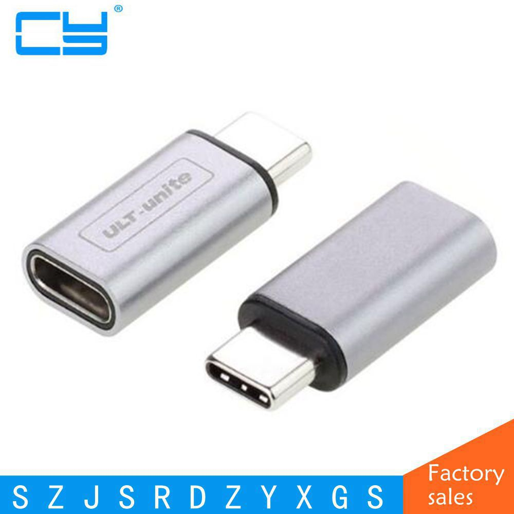 2017 NEW type Silver & Gray 10Gbps standard Metal USB-C USB 3.1 Type C male to female Adapter Connector converter USB3.1 type-c hiper type c male