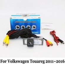 Резервное копирование Камеры Для Volkswagen VW Touareg 2 2011 ~ 2016/RCA Провод или Беспроводной/HD Широкоугольный Объектив Ночного Видения Заднего Вида камера