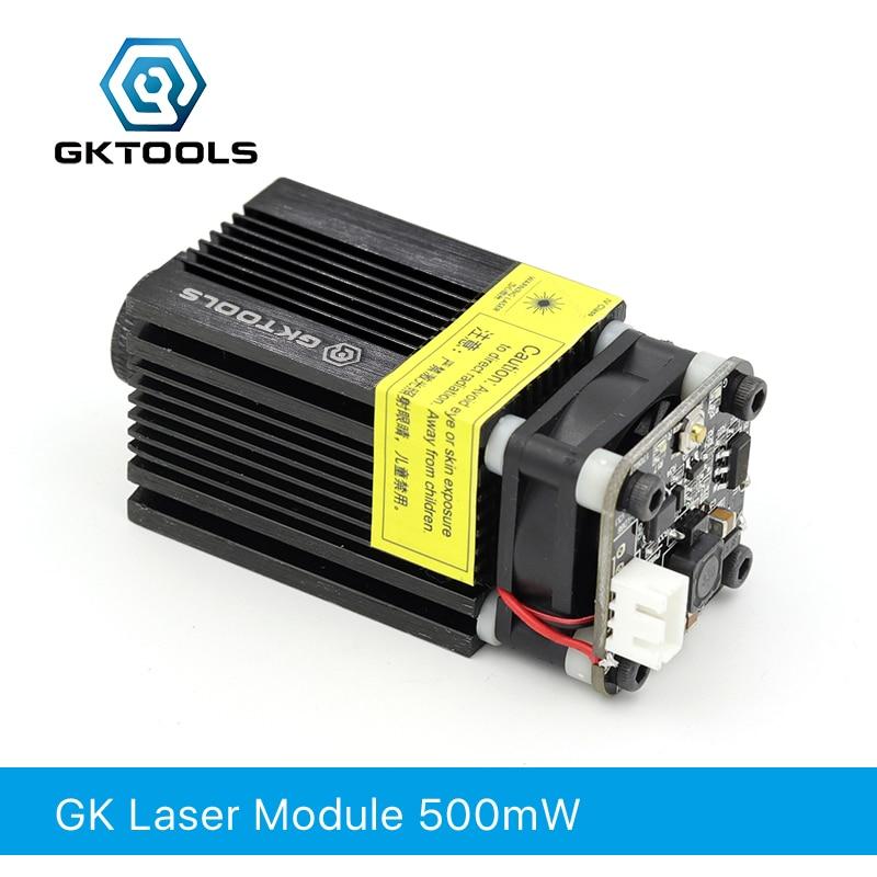 GKTOOLS 500mW 405nm 12V Blue Laser Module 2.54-3P TTL/PWM Modulation For DIY CNC Laser Engraver  Adjustable Focus FB03-500