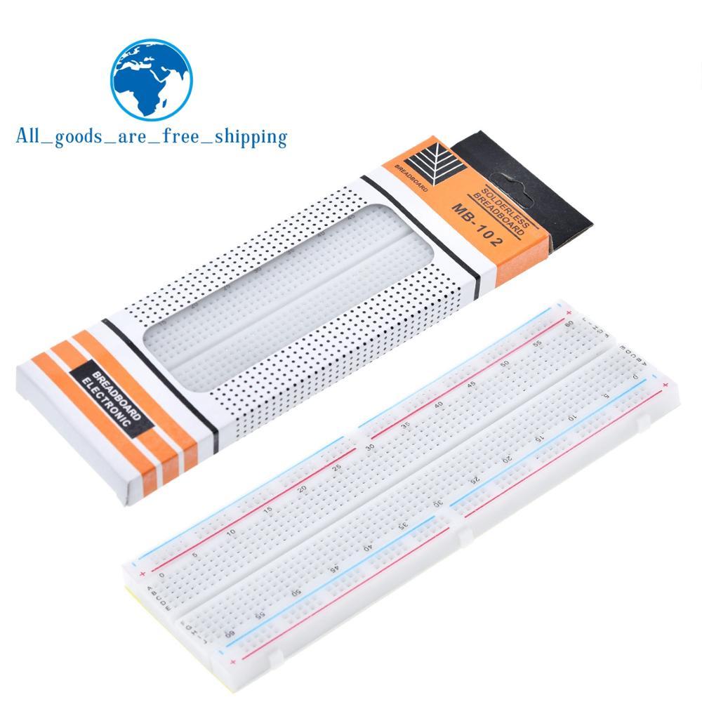 TZT Breadboard 830 Point PCB Board MB-102 MB102 Test Develop DIY kit nodemcu raspberri pi 2 lcd High Frequency(China)