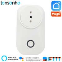 Lonsonho Smart Plug Wifi Smart Socket Italy Chile Outlet Power Monitor 16A  Tuya Smart Life App Alexa Google Home IFTTT