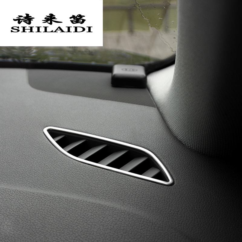 Car Styling AC Outlet Trim Refit Air Outlet Frame Dashboard Stickers Covers For Audi A4 B8 A5 RHD LHD Interior Auto Accessories