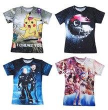 Mode Kleidung Frauen Männer Unisex 3d t-shirt Pikachu zombie zombified Pokemon/Mini Maus Ente t-shirt t tops Kostenloser versand