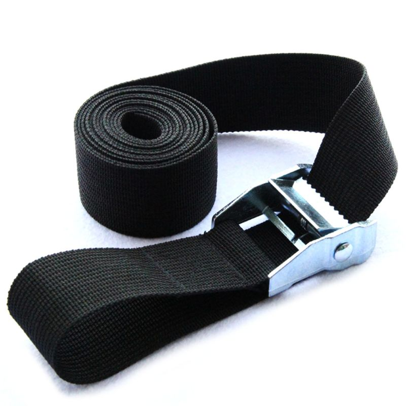 Image 2 - 1M Buckle Tie Down Belt Cargo Straps For Car Motorcycle Bike With Metal Buckle Tow Rope Strong Ratchet Belt qiang-in Tensioning Belts from Automobiles & Motorcycles