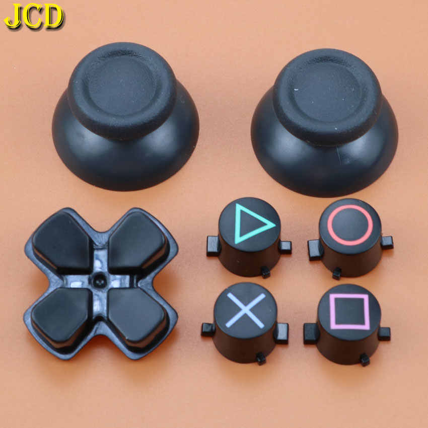 Jcd 1Set Analog Joystick Grip Cap Abxy X D-Tombol Set Pengganti Sony Playstation4 DualShock 4 DS4 untuk PS4 Controller
