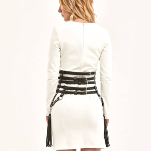 Image 3 - UYEE Creative Tassels Suspenders Leather Garter Belt Sexy Harness Body Bondage Skirts Prom Dress Bdsm Bondage For Women LP 026