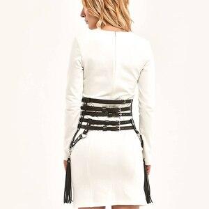 Image 3 - UYEE креативные кожаные подтяжки с кисточками, пояс для подвязки, сексуальный пояс для тела, бондаж, юбки, платье для выпускного, бдсм, бондаж для женщин LP 026