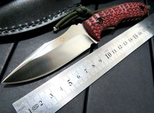Custom WF-Z1 Camping TOOL Straight Knives Hunting Fixed Blade Knife D2 blade .60HRC Blade with G10 Handle SSS+++++