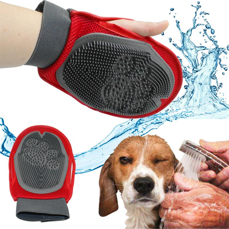 Soft Mitt Cat Dog Grooming Glove Brush Deshedding