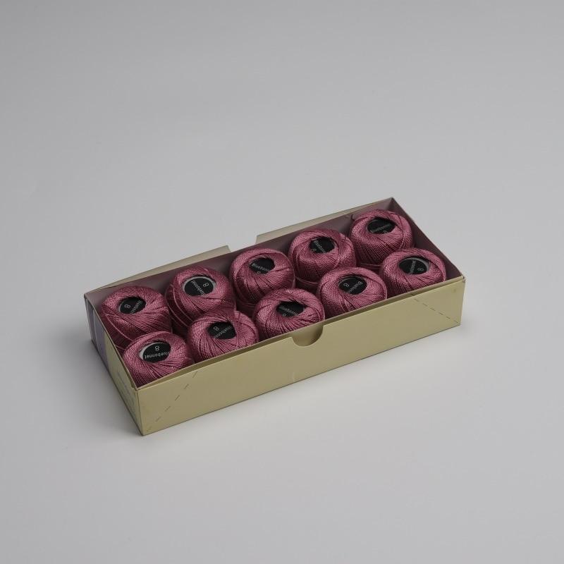 Размер 8 жемчужная хлопковая нить для вышивки крестиком 43 ярдов(5 грамм) на шарик Двойной Мерсеризованный длинный штапельный хлопок 10 шариков в цвет - Цвет: 786