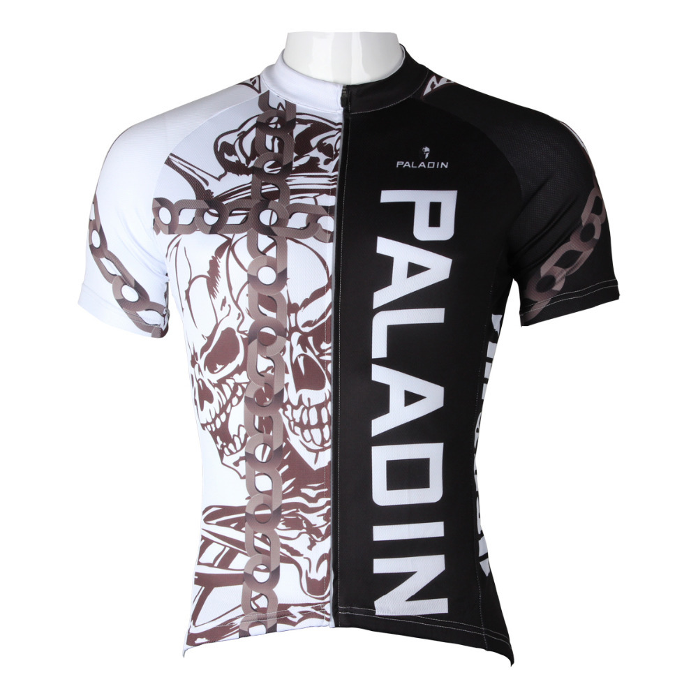 Bicycle Shirts 1/2 Black Cycling Clothing Size S-6xl Ilpa Skillful Manufacture 2016 New Mens Breathable Cycling Jersey Comfortable Chain Skull Bike Cycling