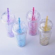 Cute Glittering Eco-Friendly Plastic Water Bottle