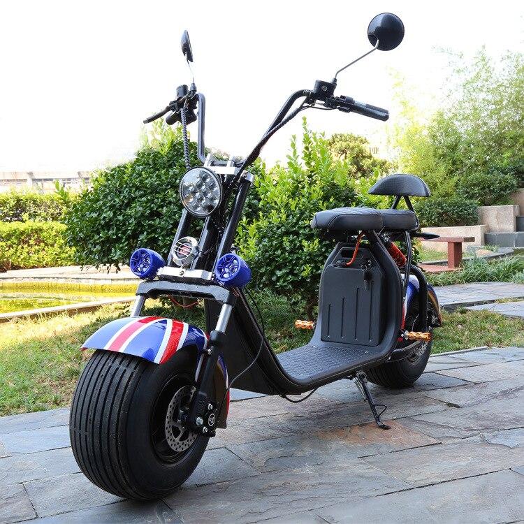 Électrique batterie au lithium Citycoco Scooter 1500 W 60 V 20AH motos électriques Moto Electrica Haute Intelligence