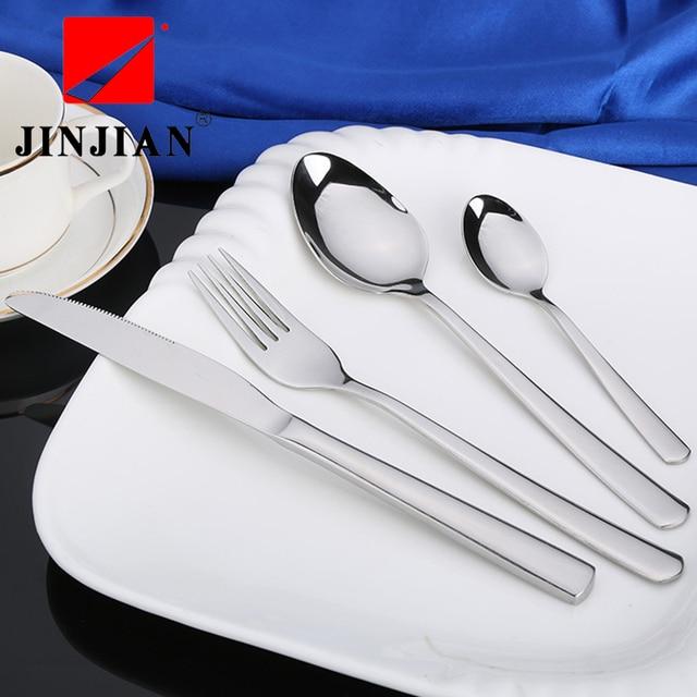 JINJIAN Hot Sale 4 Pcs/Set Western Style Dinnerware Set 304 Stainless Steel Western Cutlery & JINJIAN Hot Sale 4 Pcs/Set Western Style Dinnerware Set 304 ...