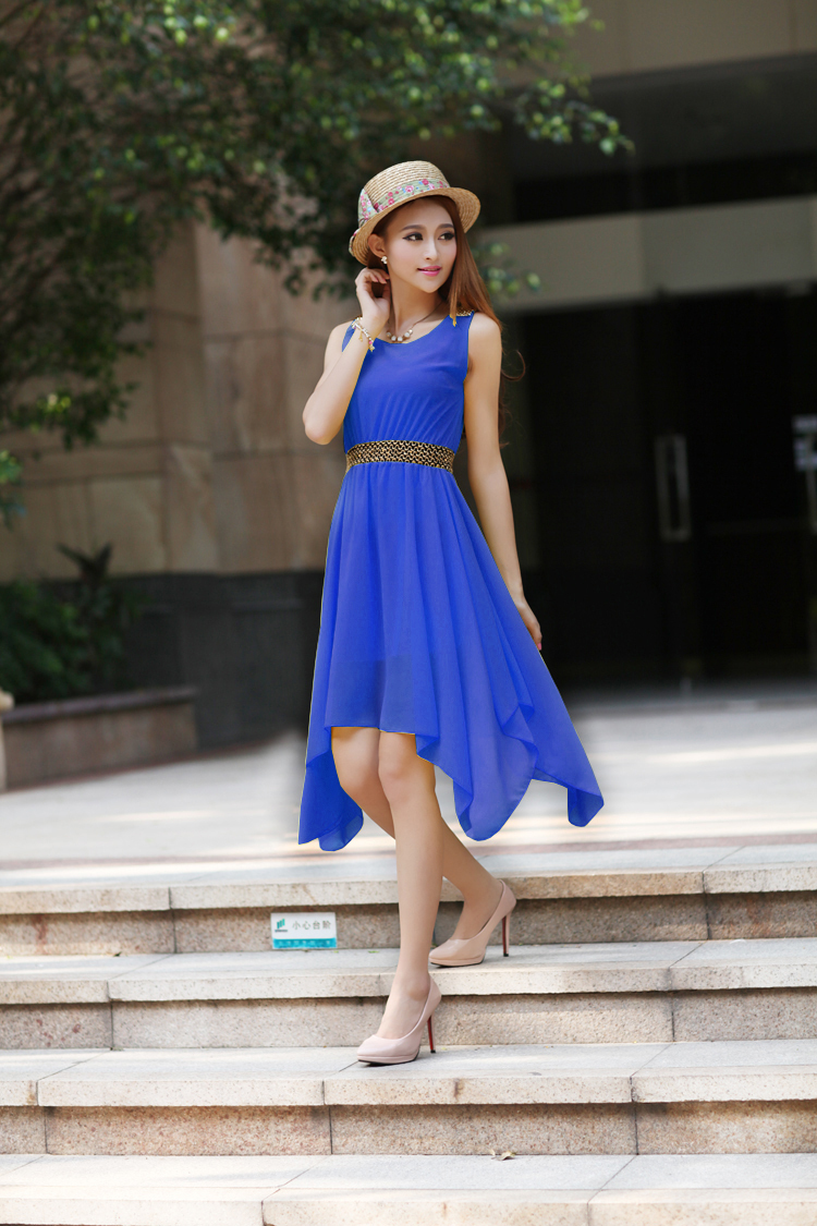 Summer Solid Pockets Dresses Plus Size Cocoon Sleeveless: 2015 New Spring Fashion Ladies Solid Color Sleeveless