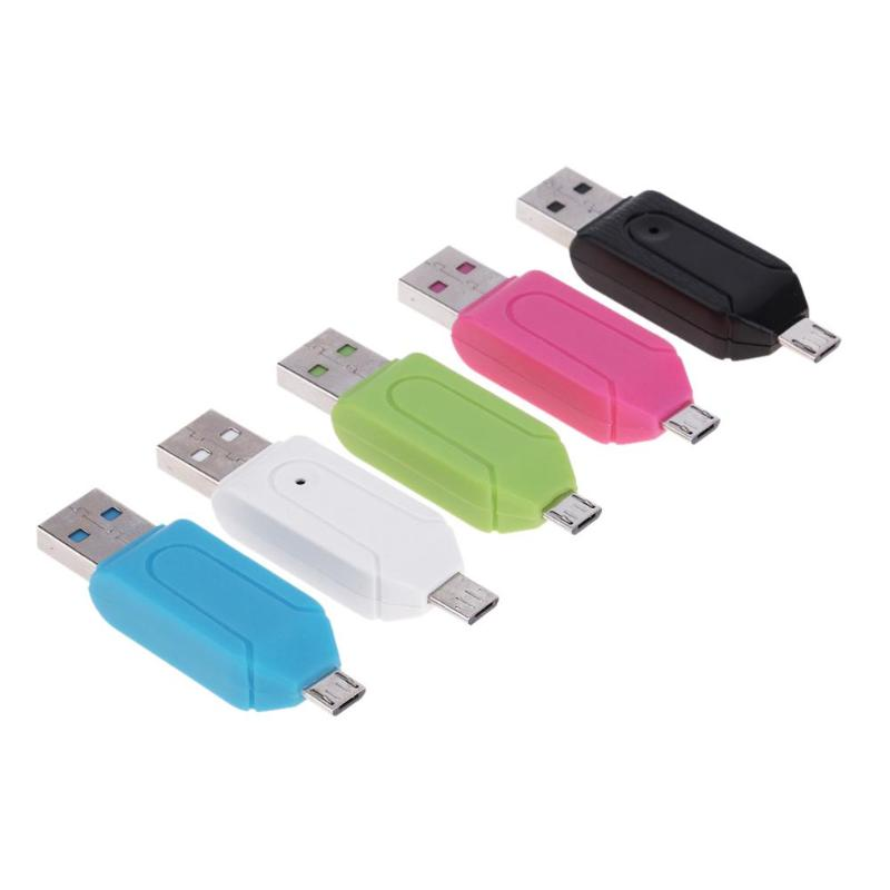 Mini USB 2.0 Micro USB Card Reader For Micro SD Card TF Card Adapter Plug Play Colourful Choose For Laptop PC For Huawei Andriod