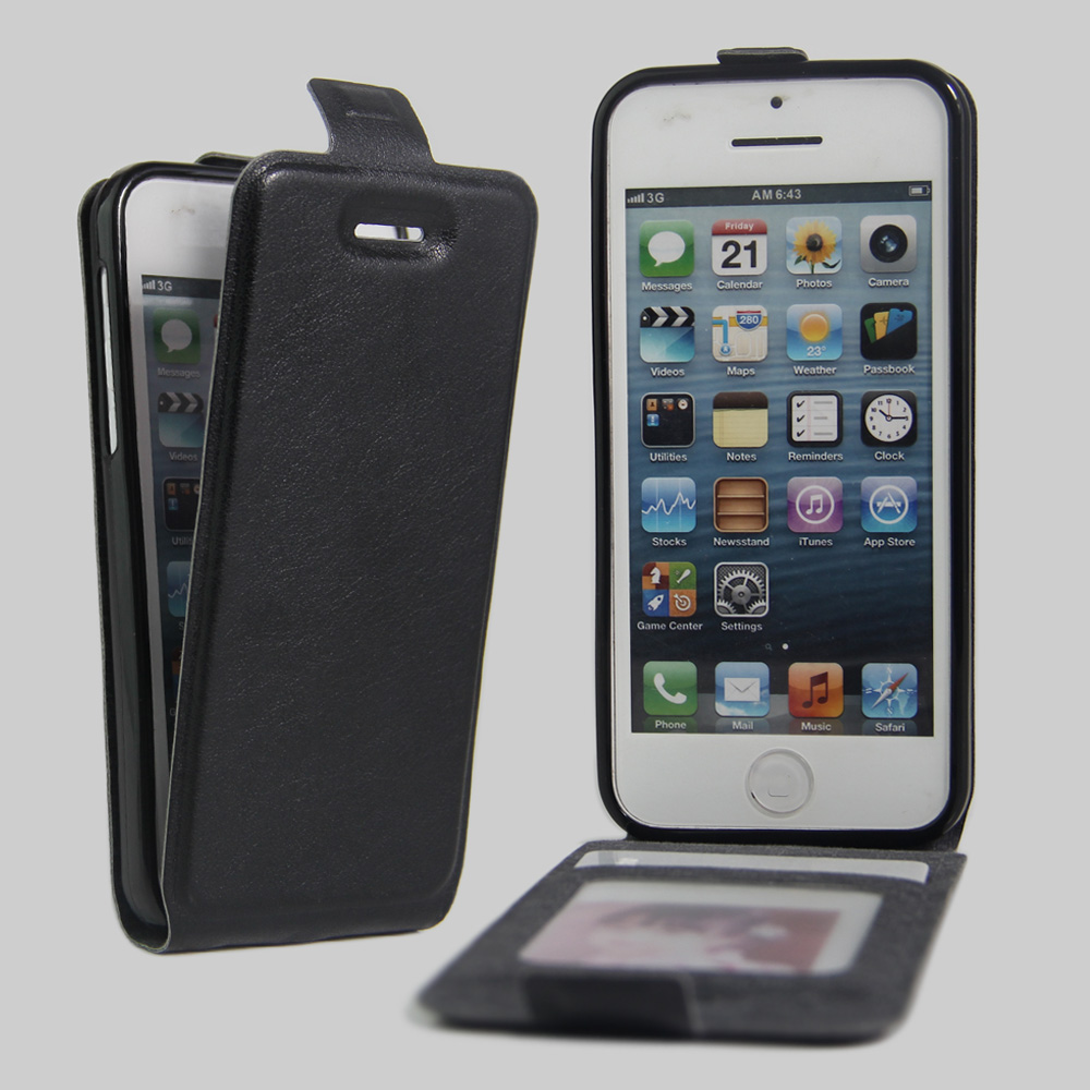 save off 05675 f5433 US $4.74 5% OFF|5s Case Leather Flip Up Down Style for Apple iPhone 5 5s  Cover Credit Card Slot Cases black Covers for iPhone5 ip iPhone5s-in Wallet  ...