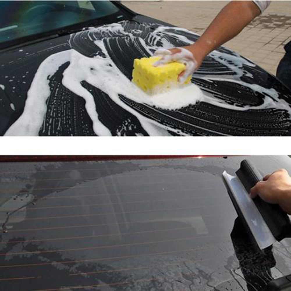 Não-zero flexível macio silicone acessível rodo de água do carro janela limpador lâmina de secagem limpa raspagem filme raspador