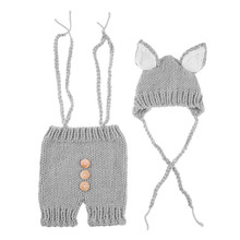 Fashion Baby Hat Toddler Girls Boys Costume Knitted Cap Bow Newborn Photography  Props Handmade Crochet Outfits 07ece9bb4351