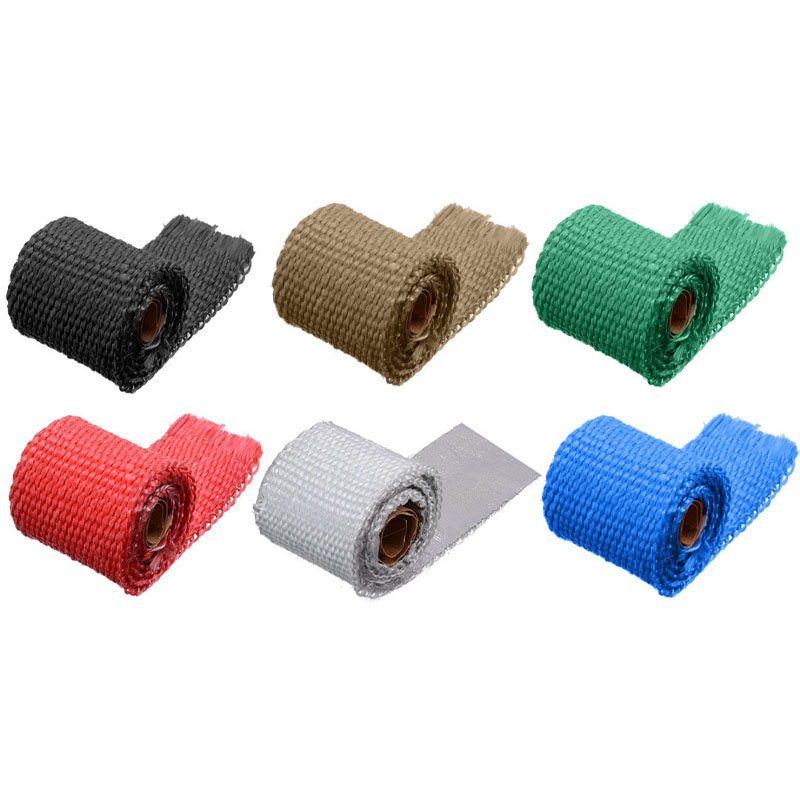 50CM*5CM Motorcycles Exhaust Header Pipe Heat Wrap Manifold Shields Insulation Roll Tape Virgin Glass Fiber-in Exhaust & Exhaust Systems from Automobiles & Motorcycles
