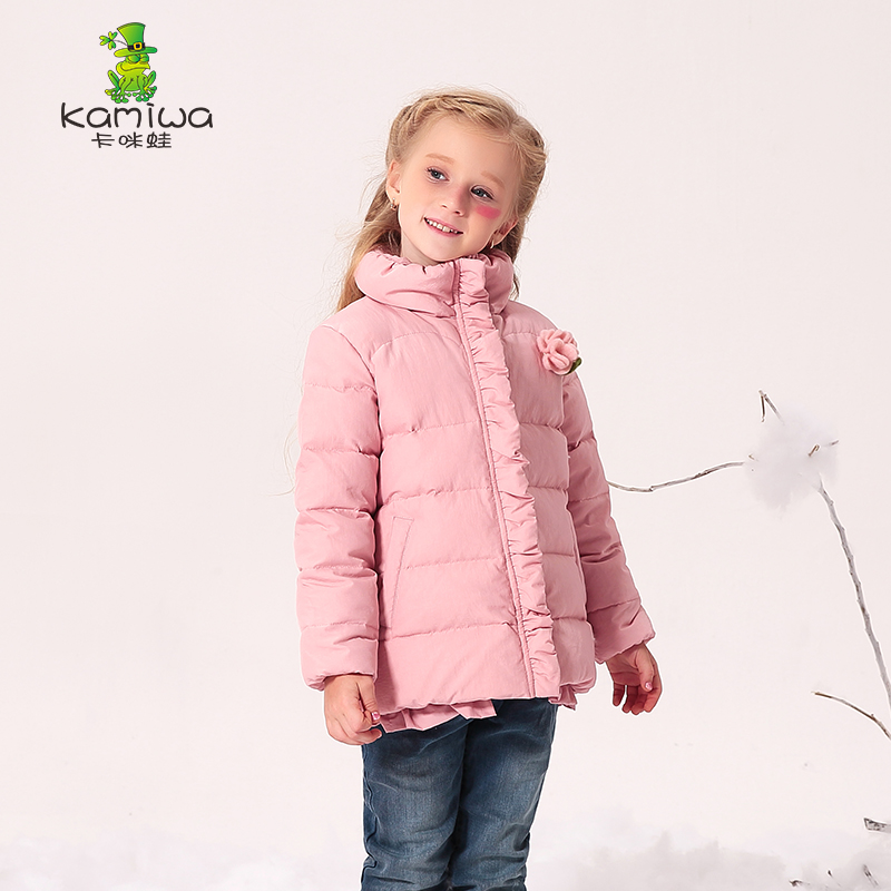 Girls Winter Coat 80% duck down kids Jackets baby girl winter coat 2018 long sleeve high collar coats for 3-6-9-12 year princess kids girls winter jackets and coats 80% white duck down warm thick hooded long down coats for teenage girl clothes 6 14