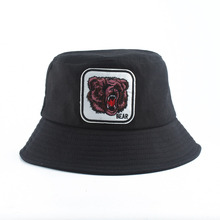 Animal Bucket Hats Mens Panama Black White Hat Outdoor Cotton Fishing For Men Women Harajuku Korean
