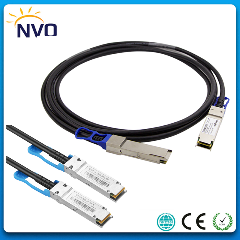 100Gb QSFP28 to QSFP28 Passive Direct Twinax Copper Cable,30AWG 2M QSFP28 DAC Copper Cable