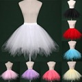 2017 Cheap White Black Red Short Bridal Petticoat Womens Skirt Tutu Skirt Tulle Many Colors Party Dress Wedding Accessories PT02