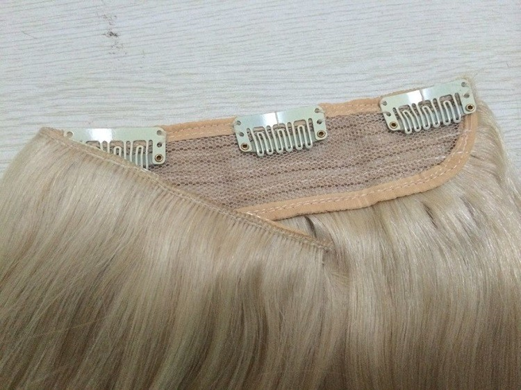 African American Clip In Human Hair Extensions 100% Human Hair Clip In One Piece Hair Extension Human Hair for Black Women (4)