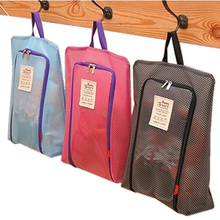 Unisex Polyester Portable Mesh Travel Shoes Storage Hanging Bag For Organizer Shoes High-capacity Waterproof Business Travel Bag