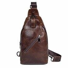 J.M.D High Quality Real Leather Large Capacity Cross Body Bag Classic Fashion Chest Bag Men's Shoulder Bag 4014C