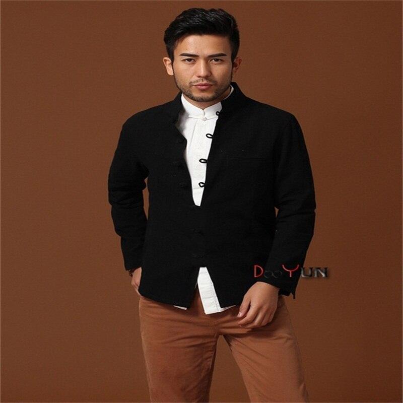 L Remise Xxl Manches Hommes Noir gris burgundy Tang S Costume M Veste Gratuite Bourgogne bleu Chinois Manteau Xl À Longues Solide Livraison Kung Style Xxxl Fu Taille rrqTHxw