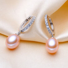 Natural Freshwater Pearl 925 Sterling Silver Earrings