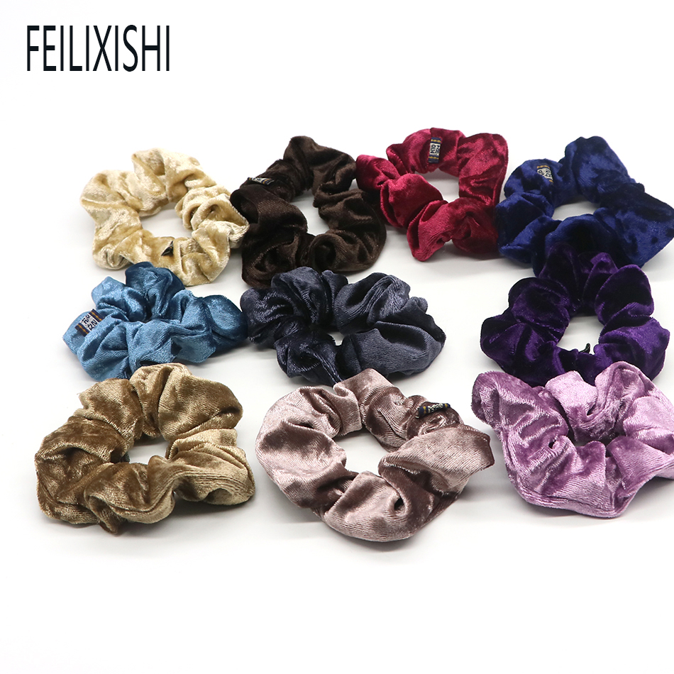5pcs Women Flower Solid Elastic Hair Bands Ponytail Holder Scrunchies Beads Tie Hair Rubber Band Headband Lady Hair Accessories Apparel Accessories Girl's Accessories